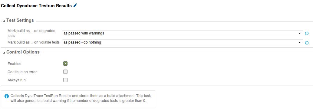 Collect Dynatrace Testrun Results Task